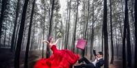漂浮婚紗拍攝與後製教學